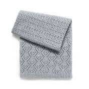 Esteffi Edwardian Wool Blend Baby Blanket, Grey