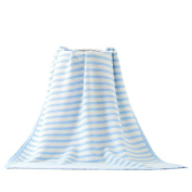 Hacookies,Striped Cotton Crocheted Baby Toddlers Receiving Swaddling Blanket Wrap Best Gift For New Moms