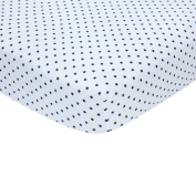 Carter's Sateen Crib Sheet, Navy Star Print, One Size