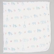 Bambino Land Organic Muslin Cotton Fitted Crib Sheet - Fits Standard Size Crib Mattress