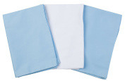 3 Toddler Pillowcases - 2 Blue & 1 White - Made for ZadisonJaxx 13x18 Toddler Pillow But Will Fit Any Toddler or Travel Pillow That Is Under 14x22 - 100% Cotton - Hypoallergenic - Machine Washable
