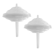 Maymom Backflow Protector, Long Stem, for Spectra S1, S2 and 9 Pumps to use Medela Flanges and Medela Parts; 2pc