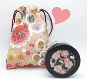 Topwon 5.6cm Classic Powder Puff Case / Face Powder Makeup Jar Travel Kit 15g