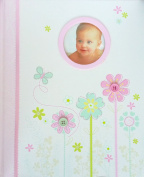 C.R. Gibson Keepsake Memory Book of Baby's First Year, Pretty Petals