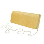 Premium Large Metallic Glitter Flap Clutch Evening Bag Handbag - Diff Colours