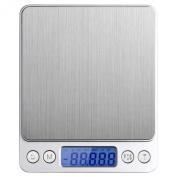 Angel Kiss Digital Gramme Pocket Grain Jewellery Weigh Scale -500g Digital Pocket Kitchen Food Scale, Stainless Steel, Backlit Display, 0ml Resolution