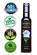 Flaxseed Oil Cold Pressed - 250 ml - Organic & Vegan. Great Taste. Essential Omega 3 for Healthy Joints, Hair, Skin, and Nails.