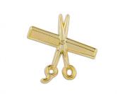 MD Barber Shear & Comb Lapel Pin, Gold