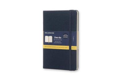 Moleskine Two-Go Notebook Medium Ruled-Plain Oriental Blue