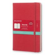 Moleskine Two-Go Notebook Medium Ruled-Plain Raspberry Red