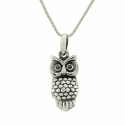 925 Sterling Silver Smart Owl Wise Bird Pendant Necklace Chain