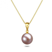 "Lavender Pearl Pendant 16"" or 18"" 7-9mm Freshwater Pearl Pendant Necklace Sterling Silver Necklace Chain"