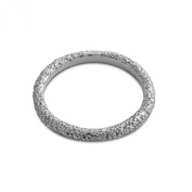 Azaggi Sterling Silver Handcrafted Textured Stackable Ring