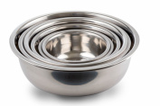 (Set of 6) Kitchen Winners Mixing Bowls Stainless Steel, Mirror Finish ,3/4 1.5, 3, 4, 5, and 8, Qt