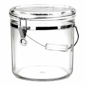 3840ml Handle and Durable Providing Interior Access Acrylic Latch Jar, Clear