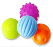 Set of 4 Textured Multi Ball Set/Multi-Sensory Balls Gift Colourful