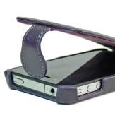 Purple Apple iPhone 4 4S Flip Protective Case // Bonus Screen Protector