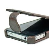 Brown Apple iPhone 4 4S Flip Protective Case // Bonus Screen Protector