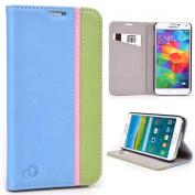 Serenity Blue/Green Wallet Credit Card Case With Stand For for for for for for for for for for for Samsung Galaxy S5