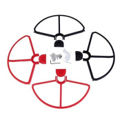 Youzone Removable Propellers Prop Protectors Guard Bumpers For DJI Phantom 1 2 3 Black & Red