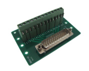 DB25 Male Signals Breakout Board Screw terminals vertical