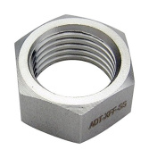 Koolance ADT-XFF-SS Fitting Coupling Adapter, Female-Female, Stainless Steel, G 1/4 BSPP