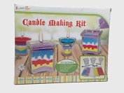 Rachel's Art Candle Making Kit- Create Your Own Unique Candles with 5 Bags of Coloured Wax