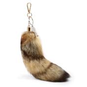 Huloo Corsac Fox Tails Fox Fur Fur Bag Charm Pendant 25cm - 30cm
