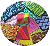Assorted Dichroic on Black Glass Pieces - 90 COE, Made in America, 60ml