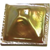 Stained Glass Jewels - 3.8cm Pinchback - Gold/amber