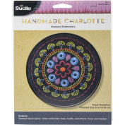 BUCILLA Stamped Embroidery Denim Tribal Medallion Kit, 15cm