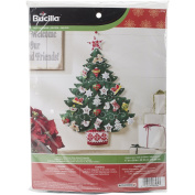 BUCILLA 86584 Nordic Tree Advent Calendar Felt Applique Kit, 43cm by 60cm