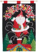 BUCILLA 86682 Believe Santa Felt Applique Wall Hanging Kit, 37cm x 50cm