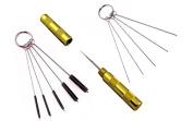 ABEST 3 Set Airbrush Spray Cleaning Repair Tool Kit Stainless steel Needle Brush Set