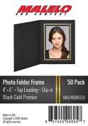 Black/Gold Cardboard Photo Folder Frame 4X6 - Pack of 50