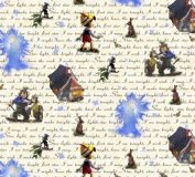 "1/2 Yard - Pinocchio & Jiminy Cricket Make a Wish ""Star Light, Star Bright"" Cotton Fabric - Officially Licenced (Great for Quilting, Sewing, Craft Projects, Throw Pillows & More) 1/2 Yard x 110cm"