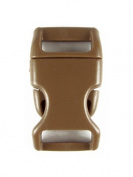 10 Coyote Brown, 5/8 Plastic (16mm), NON-ADJUSTING, Contoured Side-Release Buckles. Great for Paracord Bracelets!