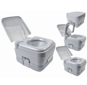 10.6l Portable Toilet Flush Travel Outdoor Camping Hiking Toilet Potty 10l