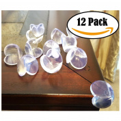 EliteBaby Clear Table Corner Guards, 12 Pack Cushioned Childproofing Toddlers, Baby, & Child Bumpers & Protectors with 3M Adhesive, Baby Shower Gift