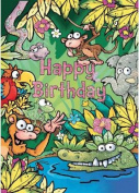 Jungle - Happy Birthday Card-Book