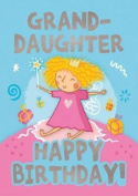 Fairies (Granddaughter) - Happy Birthday Card-Book