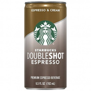 Starbucks Doubleshot, Espresso + Cream, 190ml, 12 Pack