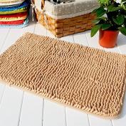 Hughapy® Camel Non Slip Microfiber Carpet / Doormat / Floor mat / Bedroom / Kitchen Shaggy Area Rug Carpet