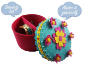 Jewellery Box Sewing Pattern Kit for Kids - Starter kit with all parts and accessories included - Felt Fabrics Supplies - Sewing Project Set - Educational Fun
