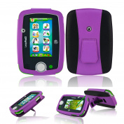 Leappad 3 Case - ACdream LeapFrog LeapPad3 Protective Case - PU Leather Case for LeapFrog LeapPad3 Kids' Learning Tablet (Only Fit LeapPad3 [2014 Version] NOT FIT LeapPad 2) with Built In Stand - Purple