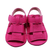 Mejale Soft Sole Geuine Leather Baby Summer Sandals Velcro Shoes for 0-3 Years Toddler Rose