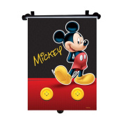 Genuine Disney Mickey Mouse Car Sun Shade Roller Window Blind for Kids