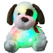 Wewill Glow Puppy Luminious Plush Toys Kids' Plush Dog Soft Night Light Colourful Stuffed Animals, 30cm