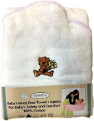 Mother & Baby Hands Free Hooded Towel / Apron - White
