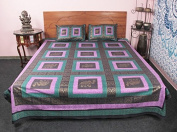 Amazing 3 Pcs Elephant Printed Patchwork Style 100 % cotton Bed Cover Bedding Set